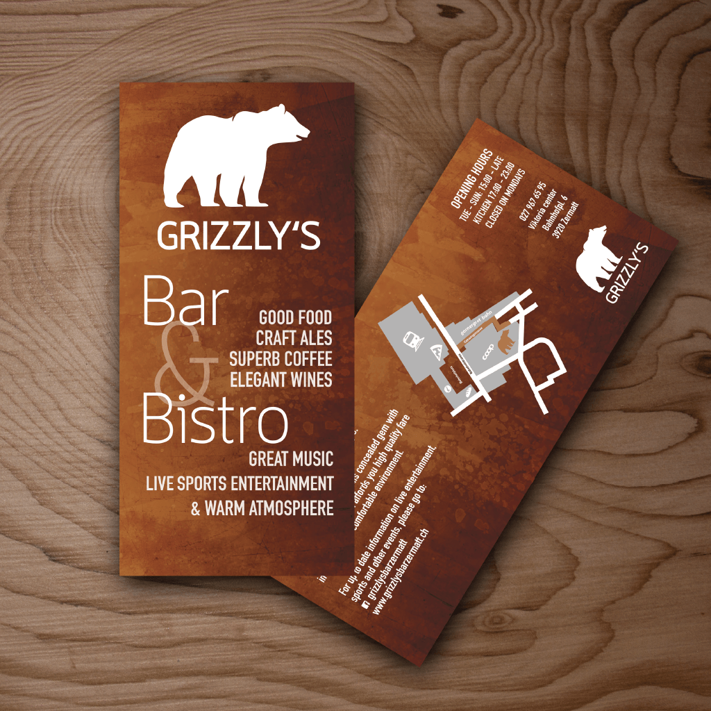 Jacob Design grizzly's flyer