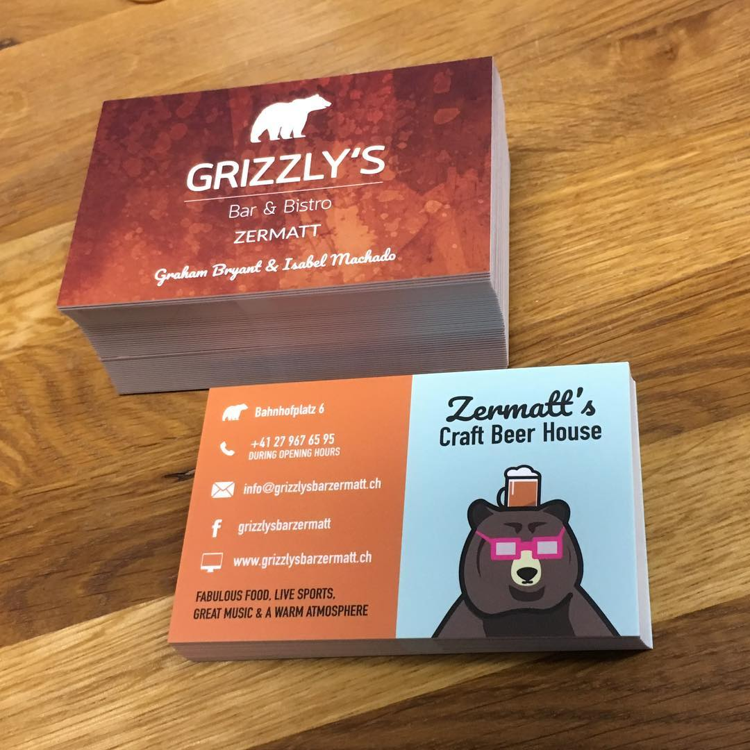 Grizzly's business card