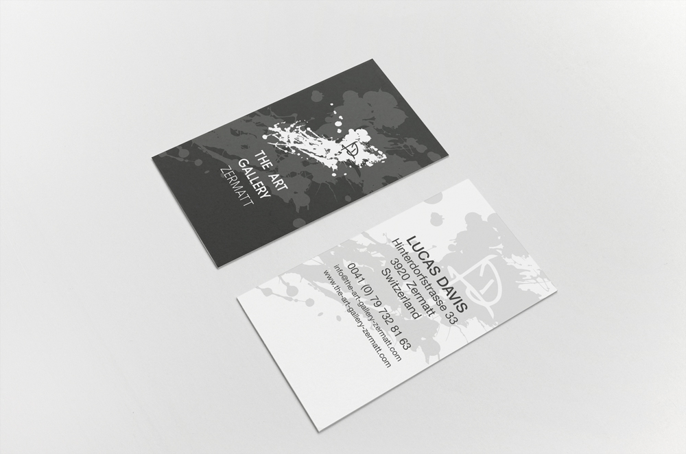 The Art Gallery Zermatt - Business cards