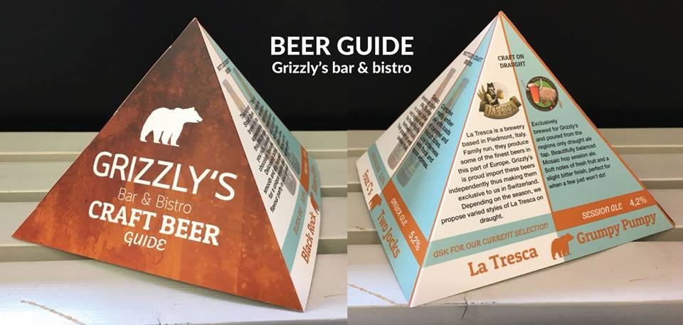 Jacob Design Beer Guide Grizzly's bar & bistro